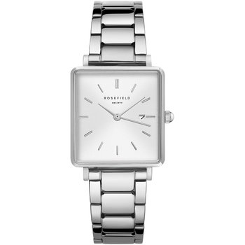 ROSEFIELD The Boxy Silver Stainless Steel Bracelet