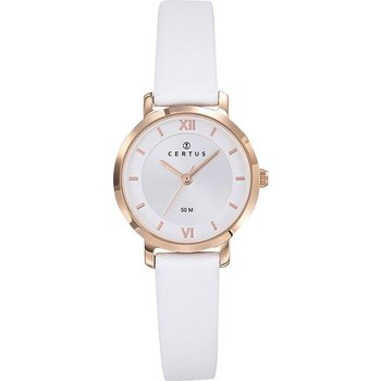 CERTUS Ladies White Leather Strap