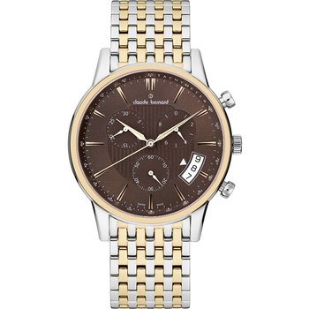 CLAUDE BERNARD Classic Gents Chronograph Two Tone Stainless Steel Bracelet