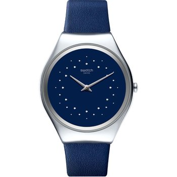SWATCH Skin Irony Skin Sideral Blue Leather Strap