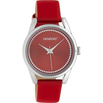 OOZOO Junior Red Leather Strap (32mm)