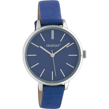 OOZOO Junior Blue Leather Strap (34mm)