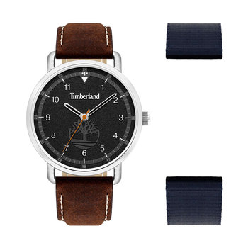 TIMBERLAND Robbinston Brown Leather Strap Gift Set