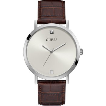 GUESS Crystals Brown Leather