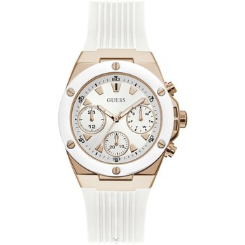GUESS Ladies White Rubber