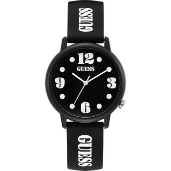 GUESS Ladies Black Rubber Strap