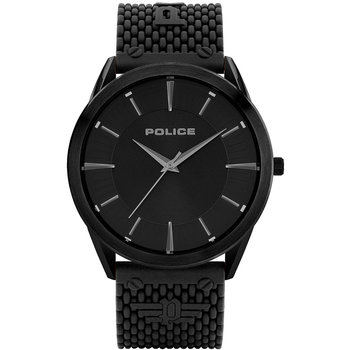POLICE Patriot Black Silicone Strap