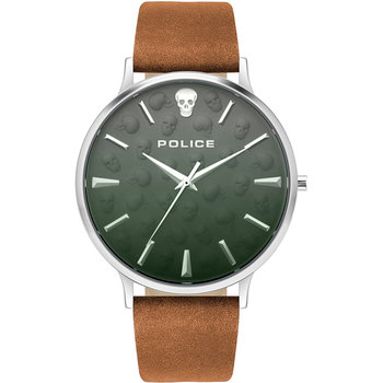 POLICE Tasman Brown Leather Strap