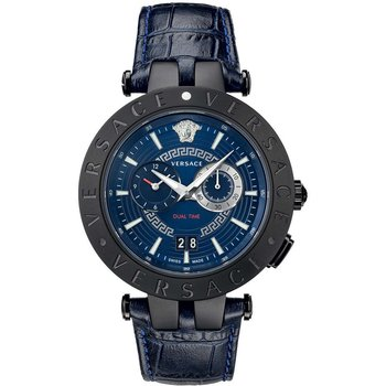 VERSACE V-Race Dual Time Blue