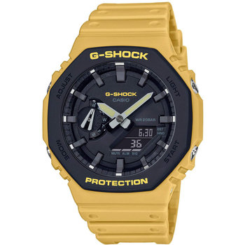 CASIO G-SHOCK Chronograph Yellow Rubber Strap