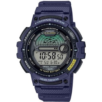 CASIO Collection Dual Time Chronograph Blue Rubber Strap