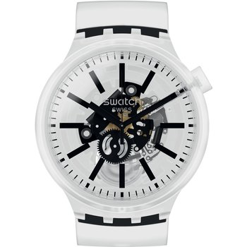 SWATCH Blackin Jelly White