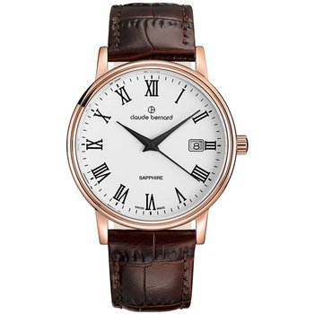 CLAUDE BERNARD Classic Brown Leather Strap