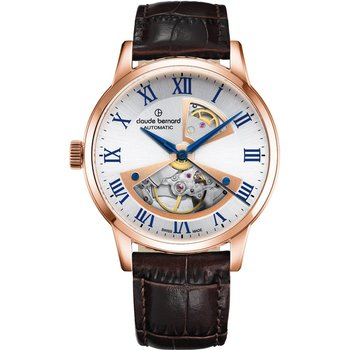 CLAUDE BERNARD Classic Automatic Brown Leather Strap