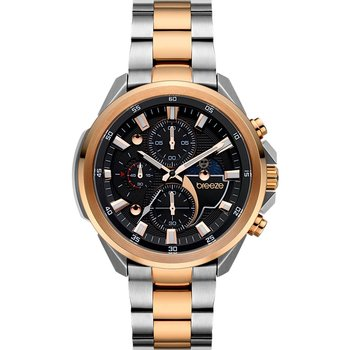 BREEZE Omnius Chronograph Two Tone Stainless Steel Bracelet