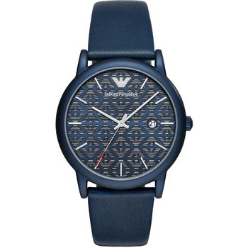 Emporio ARΜΑΝΙ Luigi Blue Leather Strap