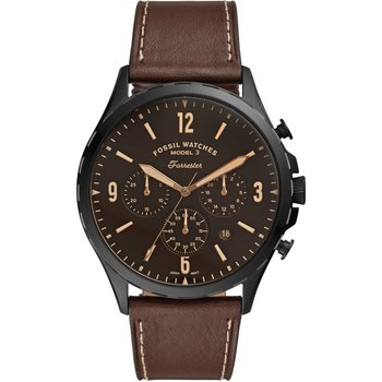 FOSSIL Forrester Chronograph Brown Leather Strap