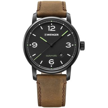 WENGER Urban Automatic Brown Leather Strap
