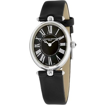 FREDERIQUE CONSTANT Art Deco Black Leather Strap