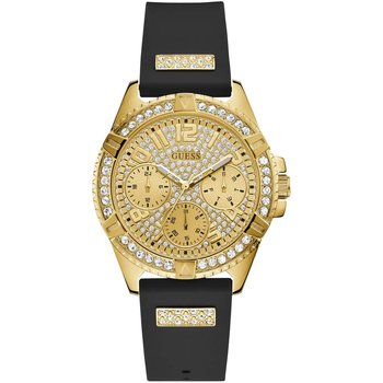 GUESS Frontier Crystals Black Rubber Strap