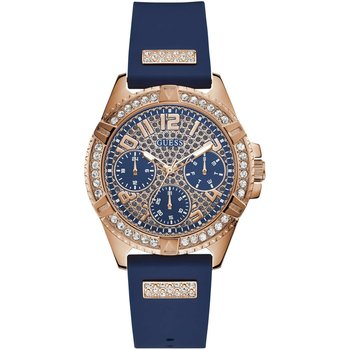 GUESS Frontier Crystals Blue Rubber Strap