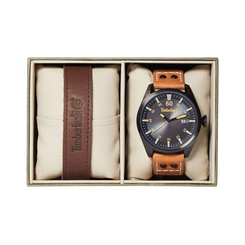 TIMBERLAND Bellingham Brown Leather Strap Gift Set