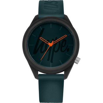 HYPE Mens Green Rubber Strap