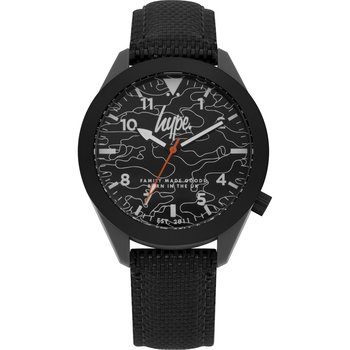 HYPE Mens Black Leather Strap