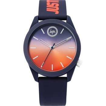 HYPE Mens Blue Rubber Strap
