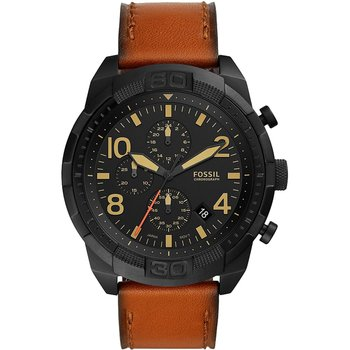 FOSSIL Bronson Chronograph Brown Leather Strap