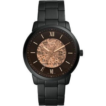 FOSSIL Neutra Automatic Black Stainless Steel Bracelet