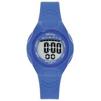 TEKDAY Ladies Chronograph Blue Plastic Strap