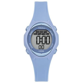 TEKDAY Ladies Chronograph Light Blue Plastic Strap