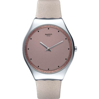 SWATCH Meta Skin Pink Leather Strap