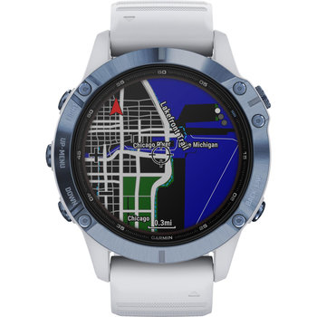 GARMIN Fenix 6 Pro Solar Mineral Blue with Whitestone Band