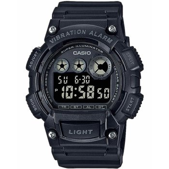 CASIO Collection Dual Time Chronograph Black Rubber Strap