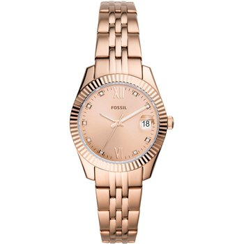 FOSSIL Scarlette Mini Crystals Rose Gold Stainless Steel Bracelet