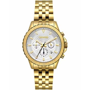 BREEZE Invernia Chronograph Gold Stainless Steel Bracelet