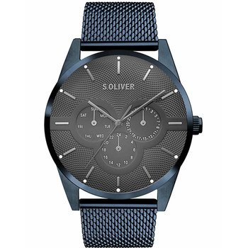 s.Oliver Mens Blue Stainless