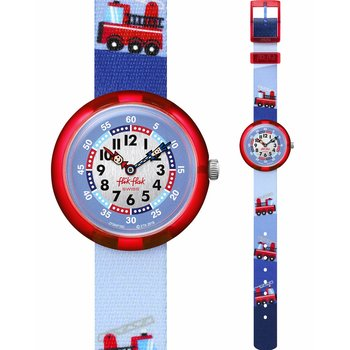 FLIK FLAK City of Life Firestruck Multicolor Fabric Strap