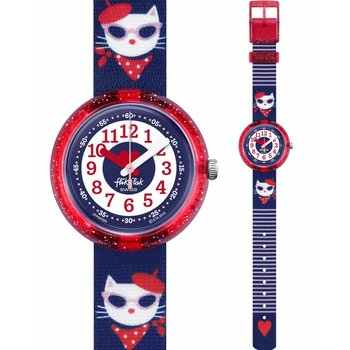 FLIK FLAK City of Life Catitude Multicolor Fabric Strap