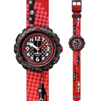 FLIK FLAK City of Life 3 2 1 Go ! Red Fabric Strap