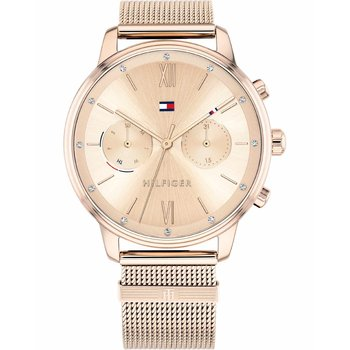 Tommy HILFIGER Casual Crystals Rose Gold Stainless Steel Bracelet