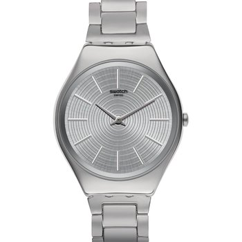 SWATCH Skin Irony Grey Tralize Silver Stainless Steel Bracelet