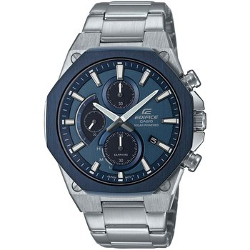 CASIO Edifice Solar Chronograph Silver Stainless Steel Bracelet