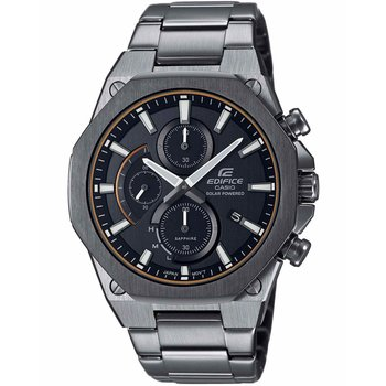 CASIO Edifice Solar Chronograph Gray Stainless Steel Bracelet