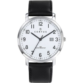 CERTUS Women Black Leather Strap