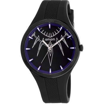 AM:PM Marvel Black Panther Black Silicone Strap
