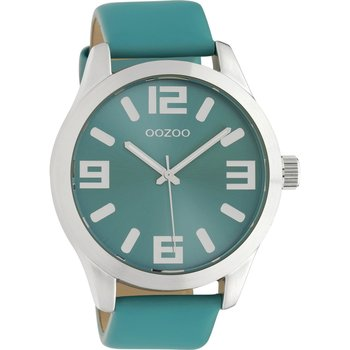 OOZOO Timepieces Green Leather Strap