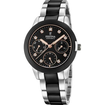 FESTINA Ladies Crystals Two Tone Combined Materials Bracelet